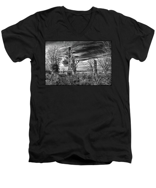 Men's V-Neck T-Shirt featuring the photograph Dark Days by Brian Wallace