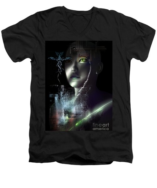 Dark Visions Men's V-Neck T-Shirt by Shadowlea Is