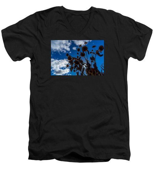 Darkening Skies Men's V-Neck T-Shirt by Derek Dean