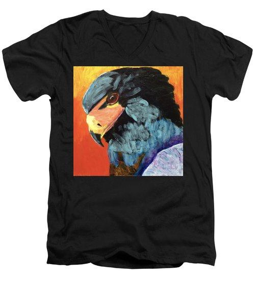 Darth Vader Hawk Men's V-Neck T-Shirt by Donald J Ryker III