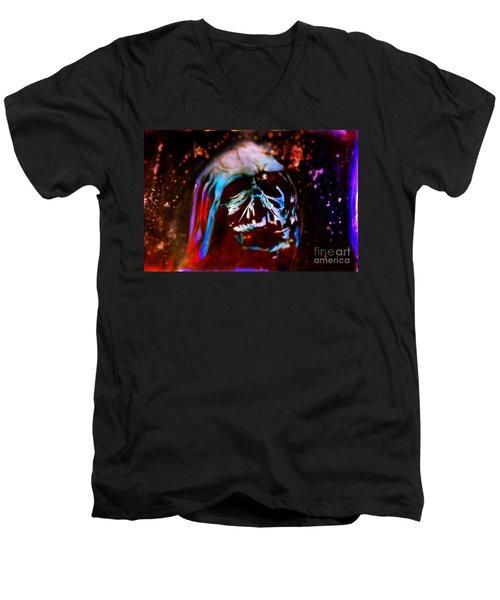 Darth Vader's Melted Helmet Men's V-Neck T-Shirt by Justin Moore