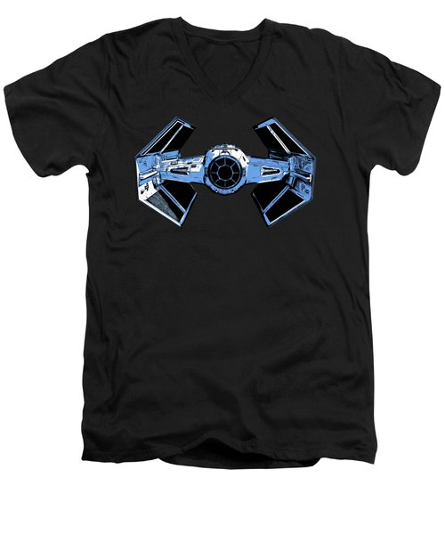 Darth Vaders Tie Figher Advanced X1 Tee Men's V-Neck T-Shirt by Edward Fielding