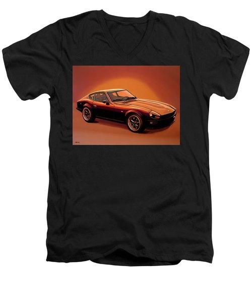 Datsun 240z 1970 Painting Men's V-Neck T-Shirt by Paul Meijering