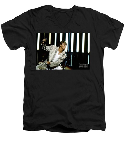 David Bowie Action Man Men's V-Neck T-Shirt