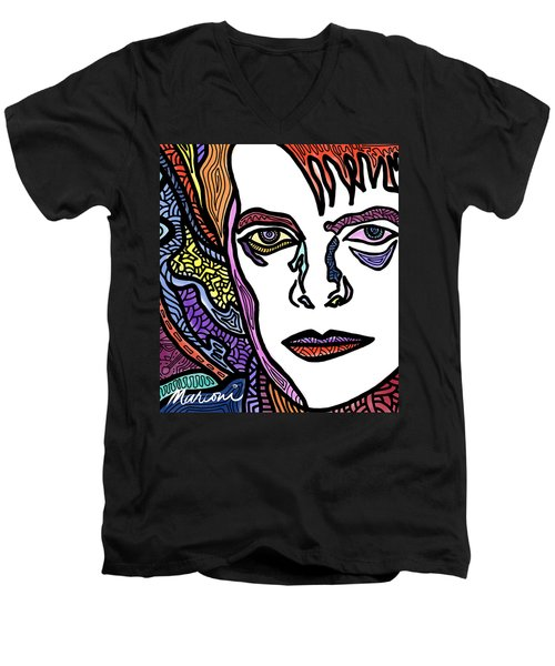 David Bowie Legacy Men's V-Neck T-Shirt