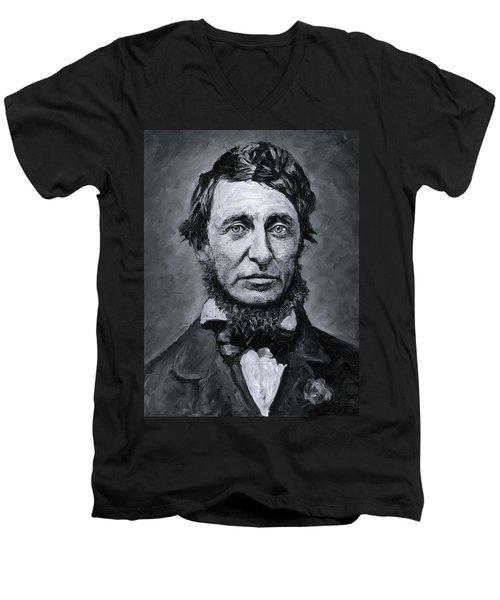 David Henry Thoreau Men's V-Neck T-Shirt