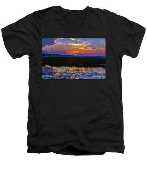 Dawn Breaking Over Saint Marks Men's V-Neck T-Shirt