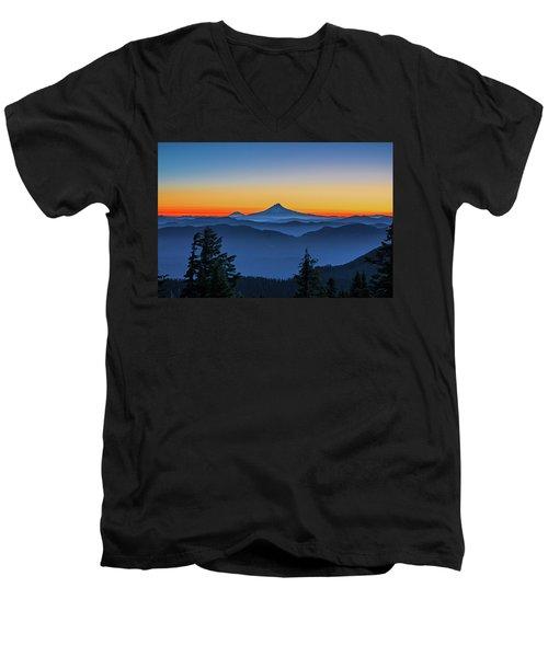 Dawn On The Mountain Men's V-Neck T-Shirt