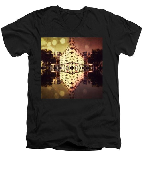Day And Night Men's V-Neck T-Shirt