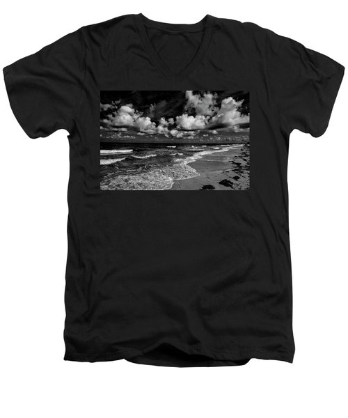 Day At The Beach Men's V-Neck T-Shirt by Kevin Cable