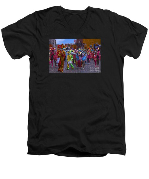 Men's V-Neck T-Shirt featuring the photograph Day Of The Crazies 2013 by John  Kolenberg
