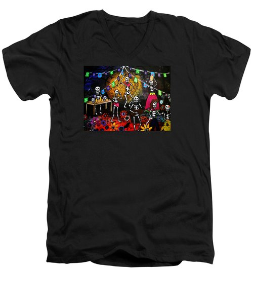 Day Of The Dead Festival Men's V-Neck T-Shirt