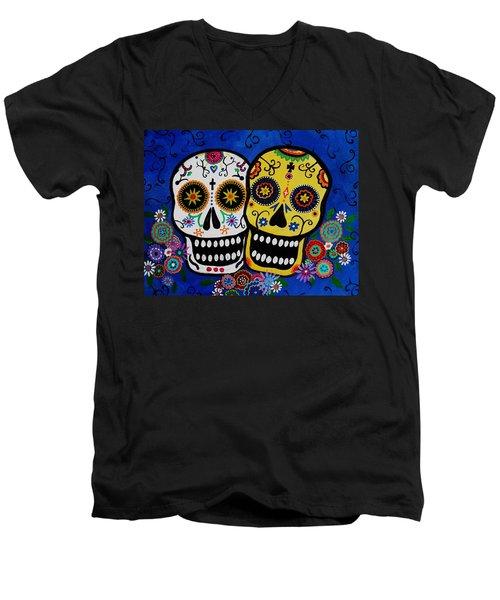 Day Of The Dead Sugar Men's V-Neck T-Shirt