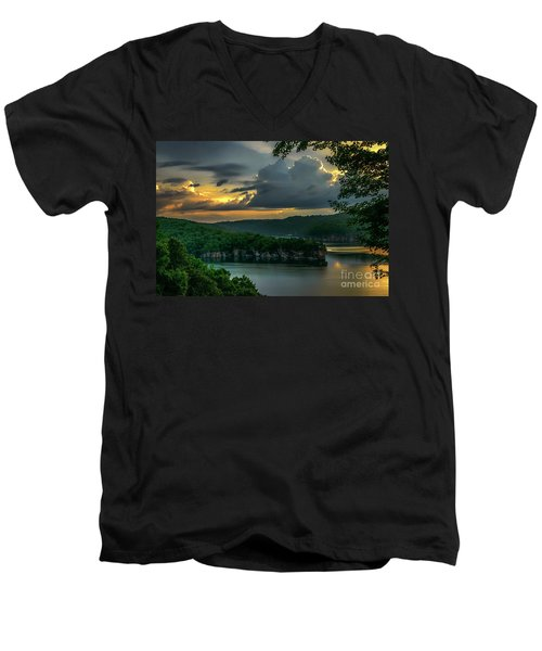 Daybreak Over Long Point Men's V-Neck T-Shirt