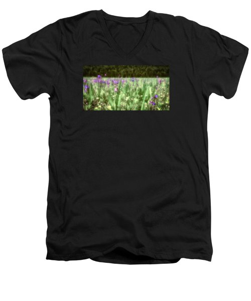 Daydreams In A Meadow Men's V-Neck T-Shirt by Rick Furmanek
