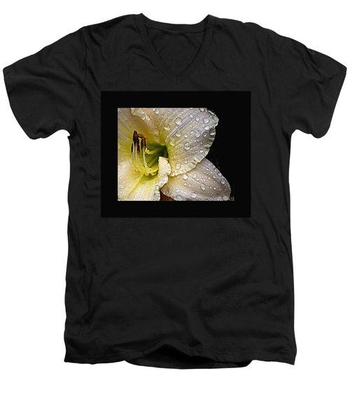 Daylilly 1 Men's V-Neck T-Shirt