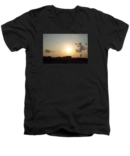 Men's V-Neck T-Shirt featuring the photograph Days End by Jake Hartz