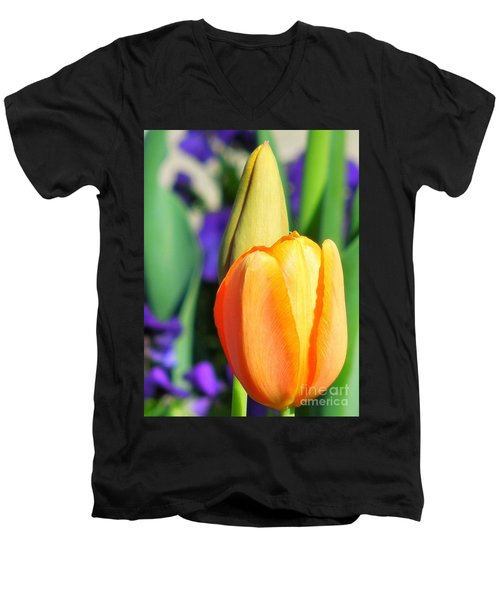 Dazzling Tulip Men's V-Neck T-Shirt