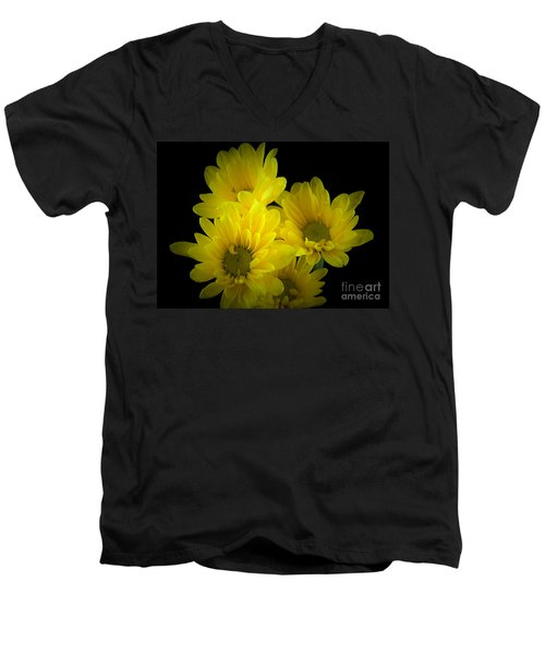Dazzling Yellow Men's V-Neck T-Shirt