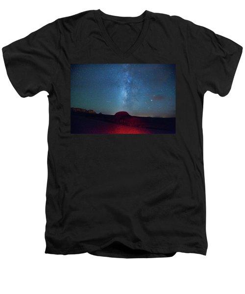 De Na Zin Milky Way Men's V-Neck T-Shirt