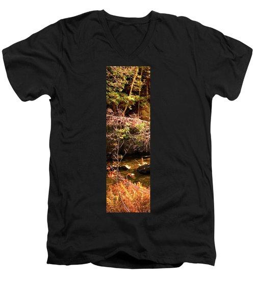 1 Of 6 Dead River Falls  Marquette Michigan Section Men's V-Neck T-Shirt by Michael Bessler