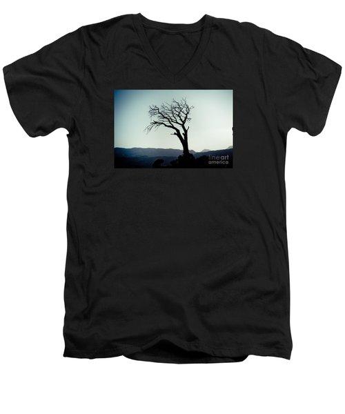 Dead Tree At The Sky Men's V-Neck T-Shirt