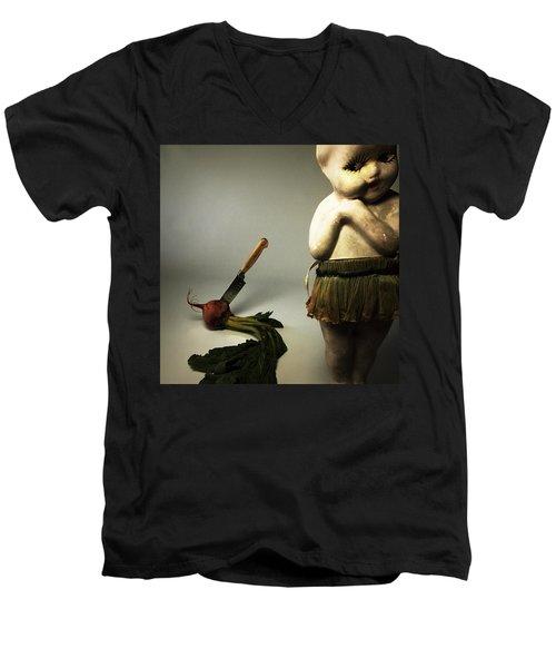 Death Of A Vegetable Men's V-Neck T-Shirt