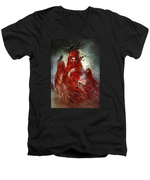 Death Men's V-Neck T-Shirt by Te Hu