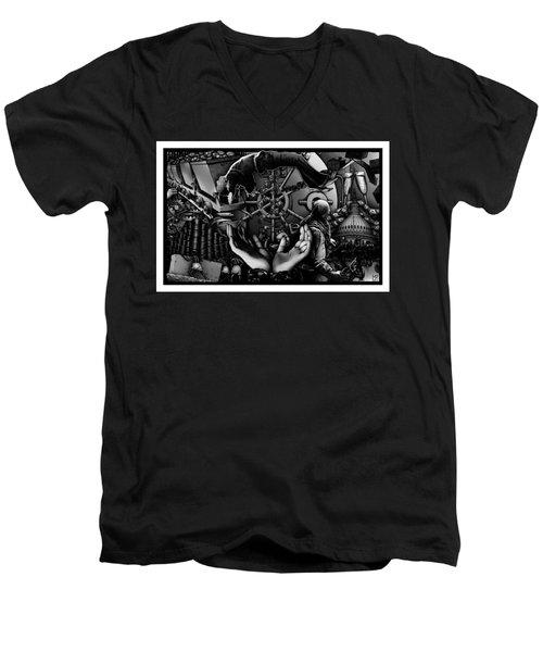 Debt To America Men's V-Neck T-Shirt