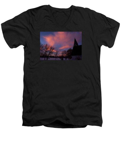 December Skies Men's V-Neck T-Shirt by Ellery Russell