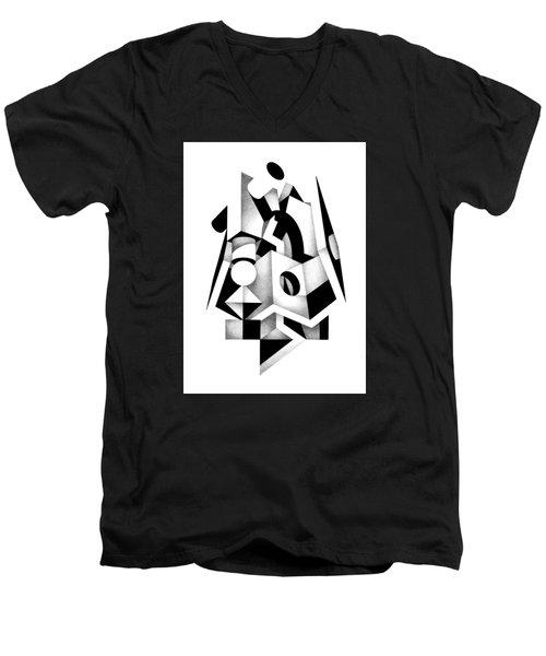 Decline And Fall 1 Men's V-Neck T-Shirt