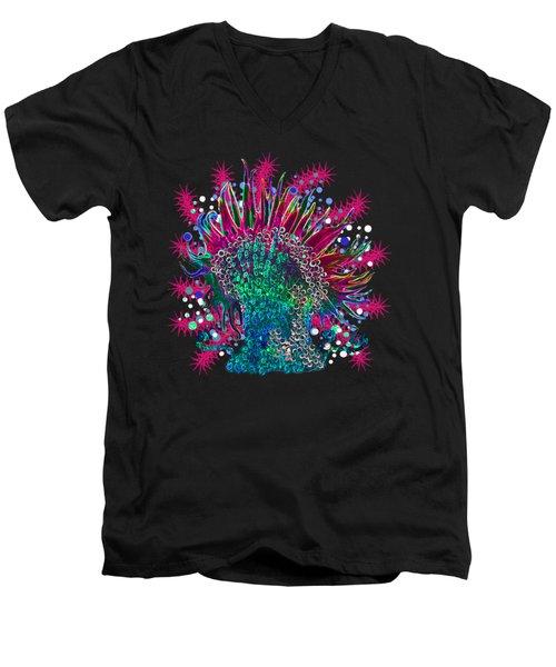 Deco Anemone Men's V-Neck T-Shirt