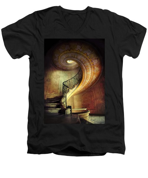 Decorated Spiral Staircase  Men's V-Neck T-Shirt