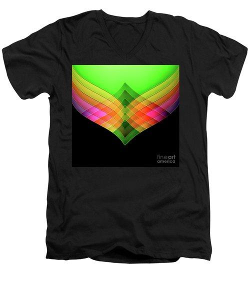 Decorative Men's V-Neck T-Shirt