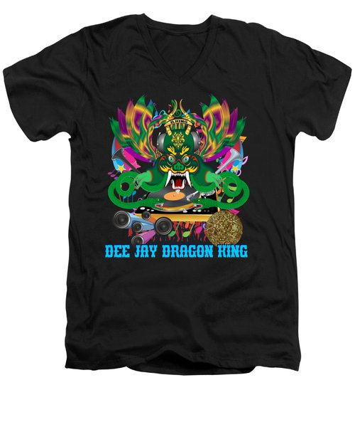 Dee Jay  Dragon 7  King All Products Men's V-Neck T-Shirt by Bill Campitelle