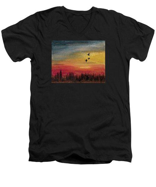 Deep Forest Men's V-Neck T-Shirt