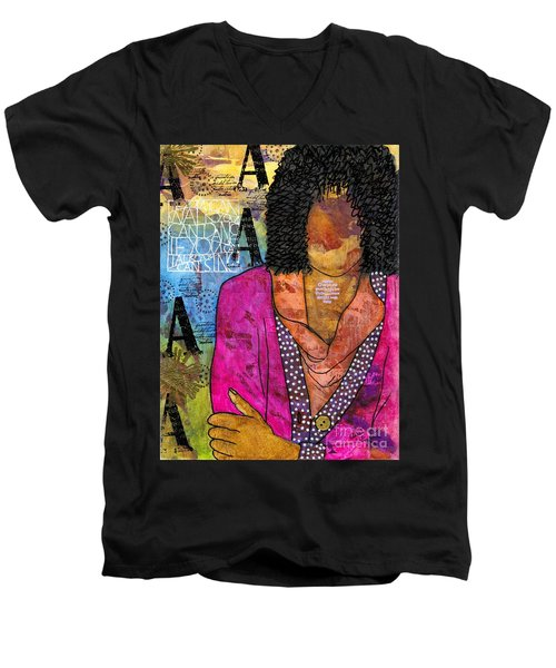 Deep In Thought Men's V-Neck T-Shirt