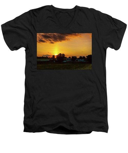 Deep Orange Farm Men's V-Neck T-Shirt