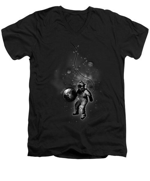 Deep Sea Space Diver Men's V-Neck T-Shirt by Nicklas Gustafsson
