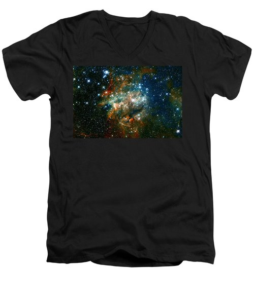 Deep Space Star Cluster Men's V-Neck T-Shirt by Jennifer Rondinelli Reilly - Fine Art Photography