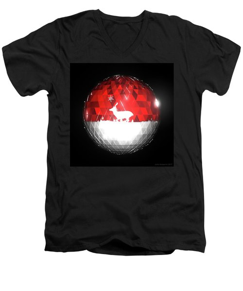 Deer Bauble - Frame 103 Men's V-Neck T-Shirt