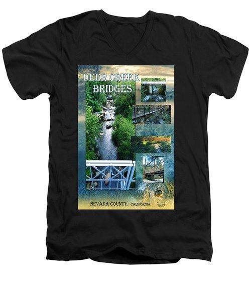 Deer Creek Bridges Men's V-Neck T-Shirt
