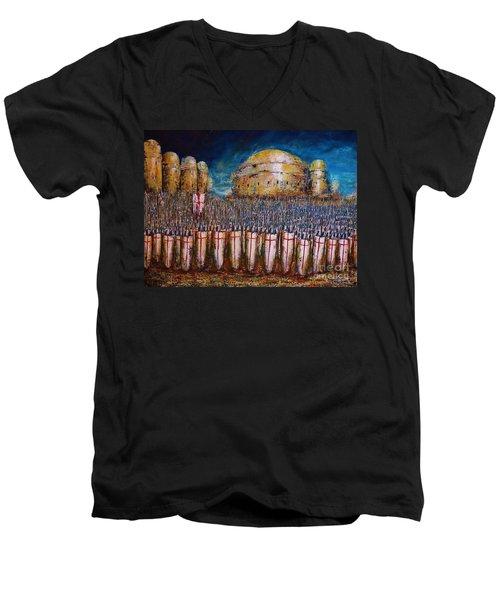 Defence Of Jerusalem Men's V-Neck T-Shirt