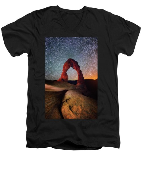 Men's V-Neck T-Shirt featuring the photograph Delicate Spin by Darren White