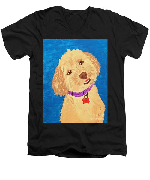 Della Date With Paint Nov 20th Men's V-Neck T-Shirt