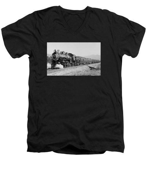 Deluxe Overland Limited Passenger Train Men's V-Neck T-Shirt