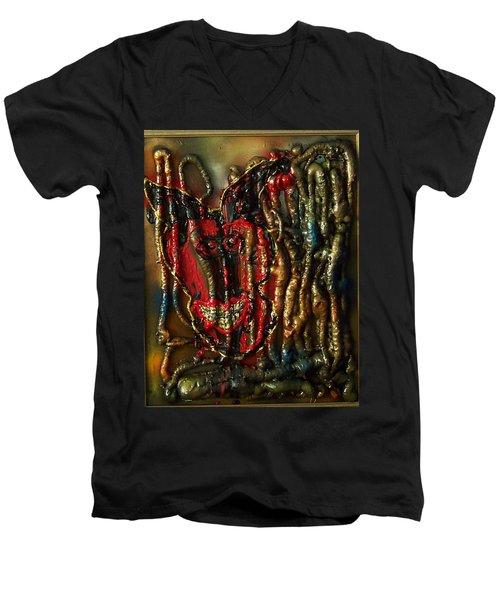 Demon Inside Men's V-Neck T-Shirt