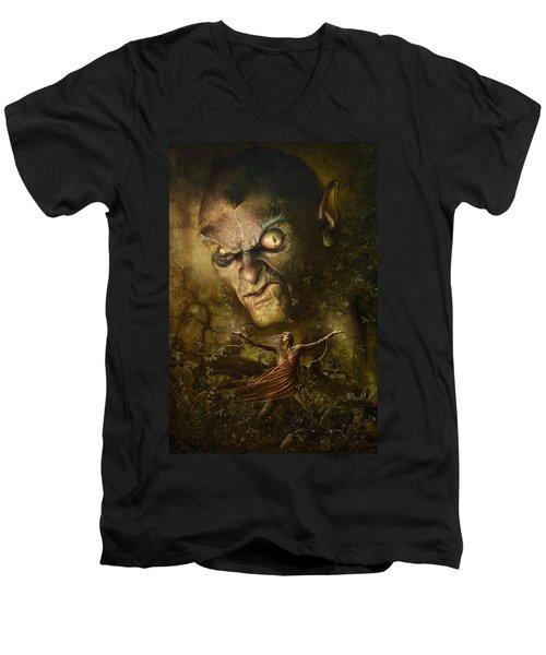 Demonic Evocation Men's V-Neck T-Shirt