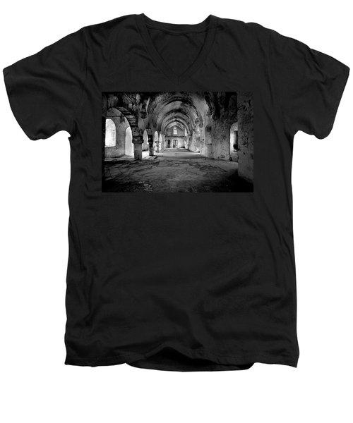 Derelict Cypriot Church. Men's V-Neck T-Shirt