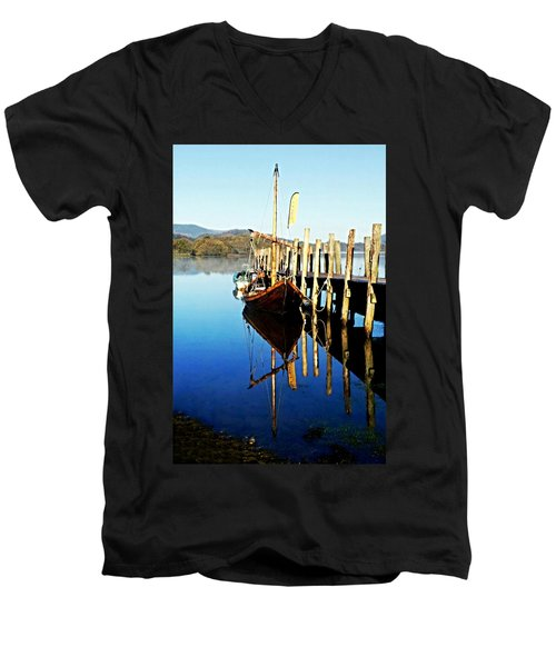Derwent Water Boat Men's V-Neck T-Shirt